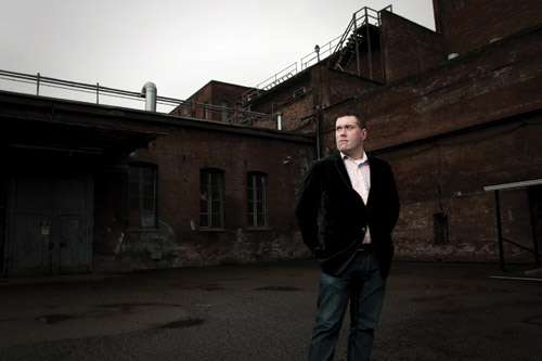 Ryan Boudinot in Georgetown, a Seattle neighborhood featured prominently in his apocalyptic new novel