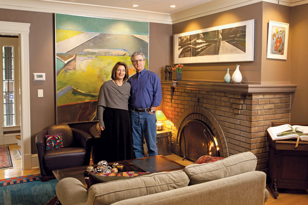 Jill and Joe McKinstry in their Mount Baker home