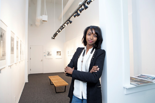 Mariane Lenhardt at her new gallery in downtown Seattle