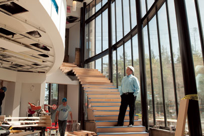 Executive director Greg Robinson prepares for the June 14 grand opening of BIMA