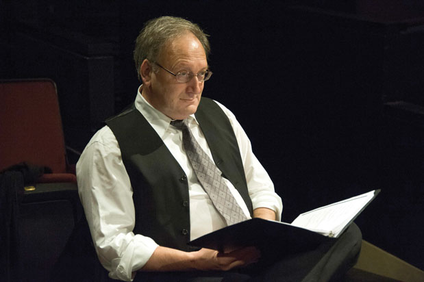 Frank Corrado, here in rehearsal for the Pinter Fortnightly series