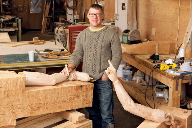 A Seattle sculptor cuts to the core of desire in spectacular wood carvings