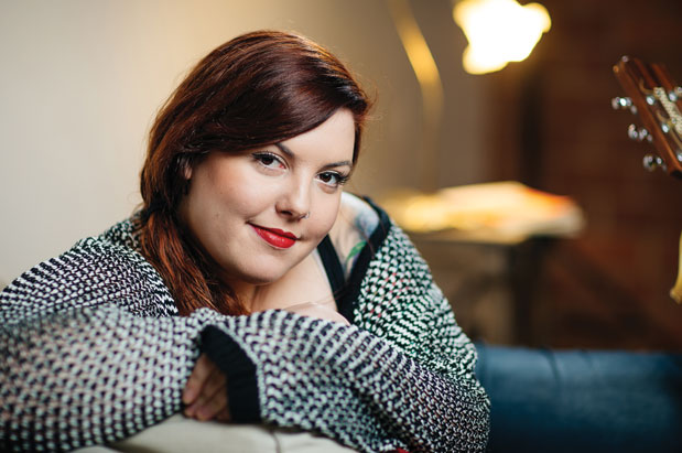 """Same Love"" singer Mary Lambert in her Belltown apartment PHOTO CREDIT: JOHN VICORY"